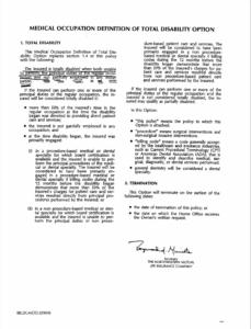 Northwestern Mutuals Medical Occupation Definition