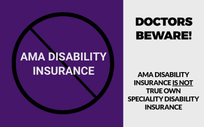 AMA Disability Insurance Beware
