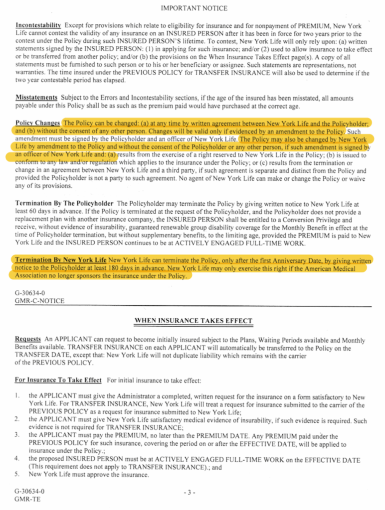 AMA Premiums are not guaranteed